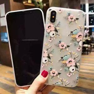 NEW iPhone X/XS Clear Floral Soft TPU Case